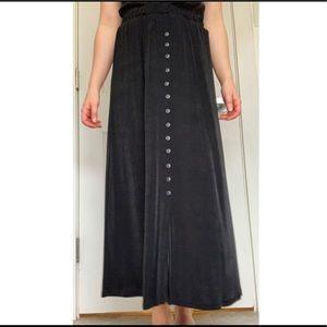 Button Down Black Skirt